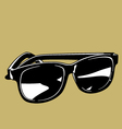 Black Sunglasses vector image vector image