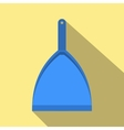 Blue dustpan flat vector image