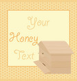 honey background with beehive vector image