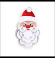 paper cut santa claus christmas decoration element vector image