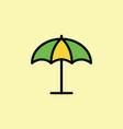 parasol umbrella icon thin line vector image