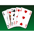Poker hand - High card vector image