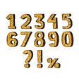 Wooden numbers set vector image