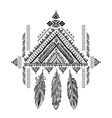 Aztec Mexican tribal ornament dream catcher vector image vector image