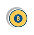 stylish icon in paper sticker style billiard ball vector image