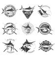 Marlin fishing Swordfish icons Deep sea fishing vector image
