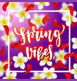 hand drawn calligraphy spring vibes vector image vector image