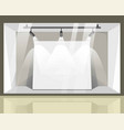 store spacious showcase with bright spotlights vector image