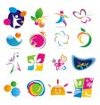 color of life icons vector image vector image