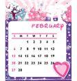 calendar february vector image vector image