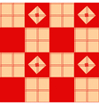 Chessboard Beige Red Background vector image