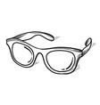 Glasses sunglasses hand drawn vector image