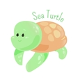 Sea turtle isolated Marine animals Sticker for vector image