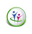 Abstract human figures logo template vector image