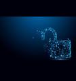 cyber unlock security concept lock symbol vector image