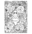 girl drowned in flowers vector image