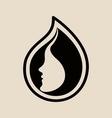 Womans Face Logo Design Template vector image