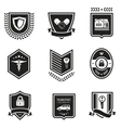 Handshake insurance badges vector image vector image