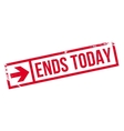 Ends Today rubber stamp vector image