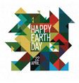 happy earth day poster 22 april colorful vector image vector image