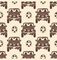jeeps seamless pattern design - vintage seamless vector image