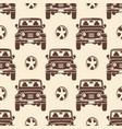jeeps seamless pattern design - vintage seamless vector image vector image