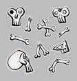 Skull Bones vector image vector image