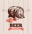 Oktoberfest vintage background Beer hand drawn Me vector image vector image