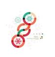 Christmas geometric shape minimal design vector image