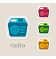 radio receiver icon vector image