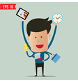 Busy Business man vector image