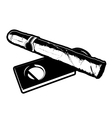 Cigar and Cigar Cutter vector image
