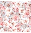 Seamless rose background vector image