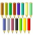 Set of Colorful Pencils vector image
