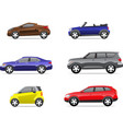 Cars icons set part 2 vector image