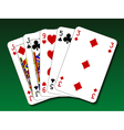 Poker hand - One pair vector image