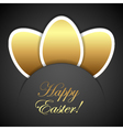 Easter golden eggs vector image