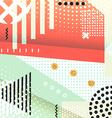 Geometric symbols background memphis for fashion vector image