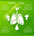 healthy food puzzle concept vector image