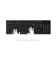 keyboard with hand vector image