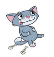 kitten has eaten till full vector image