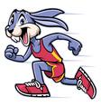 rabbit mascot running vector image