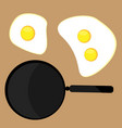 scrambled eggs icon vector image