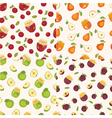Set of fruit seamless patterns vector image