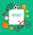 sketch sport symbol icon pattern poster vector image