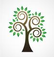 Spiral tree image ilogo vector image
