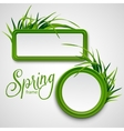 Spring frame with grass vector image