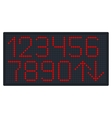 Digital Number Set for Elevator or Watch vector image