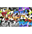 Graffiti urban background seamless vector image vector image