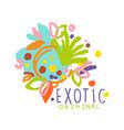 exotic tropical summer vacation logo original vector image vector image